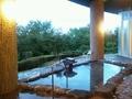 楽湯の露天風呂