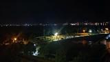 夜の露天風呂からの眺め