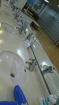 大浴場の脱衣場のアメニティ