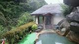 黄金の湯の露天風呂