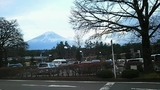 駐車場と富士山