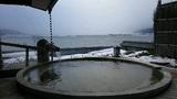 「湖眺の湯」露天風呂