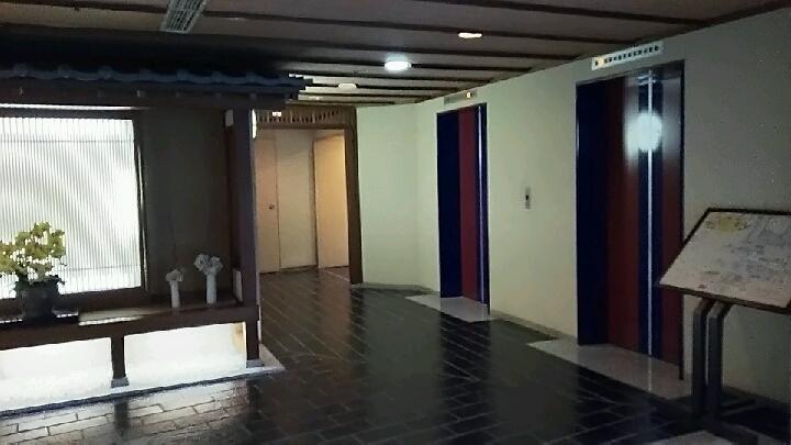 瑞雲楼地階エレベーターホール