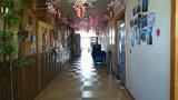 「泉水」の廊下