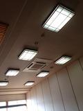 朝食会場天井です。