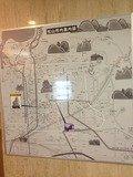 ロビーにホテル周辺地図が張っております。