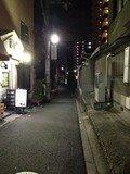 ホテルの前の通りです。