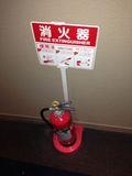廊下にちゃんと消化器があるので助かります。