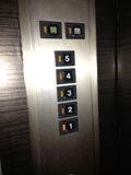 エレベーター スイッチ写真です。