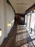 最上階料亭への廊下です。