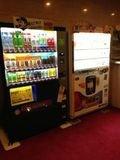 自販機はロビーにあります。