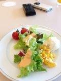 サラダを盛りつけて盛りつけてみました!