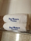 ホテル名の刺繍入りバスタオルです。