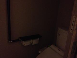家族風呂のトイレも手すり付きです