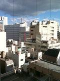 部屋の窓からの風景です。