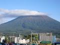 ホテルから見た羊蹄山です。