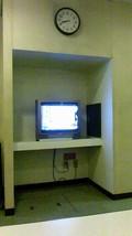 風呂の脱衣所のテレビ