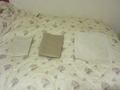 浴衣、バスタオル、フットタオルはきれいに畳まれてました。