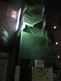 入り口じゃない駅側です。ホテルの非常階段。
