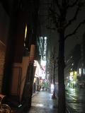 ホテルのある通り。