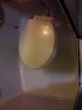 トイレの周りの床はきれいでした。