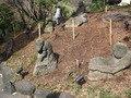 椿山荘庭園には羅漢石がありました。