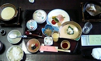 夕飯(部屋にて)