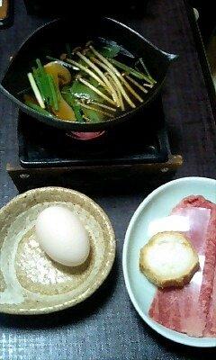 夕飯のすき焼き