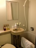 シャワーカーテンをあけました