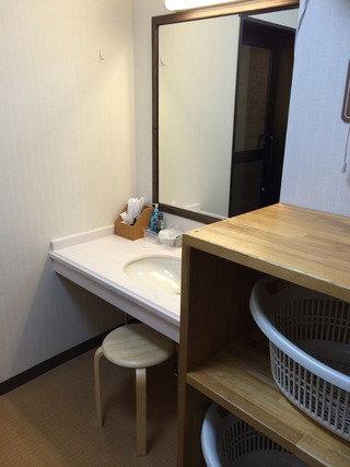 貸切露天風呂 更衣室
