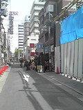 ホテル前の通りです