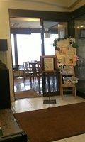 ホテルのロビーの喫茶室です