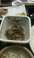 山菜とこんにゃくの炊き合わせです