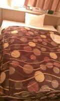 ベッドはダブルサイズでした