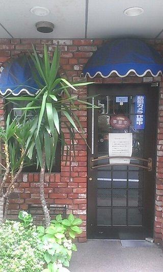 朝食会場の玄関です