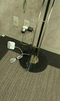 エレベーターホールにWiFiのモデムがあります