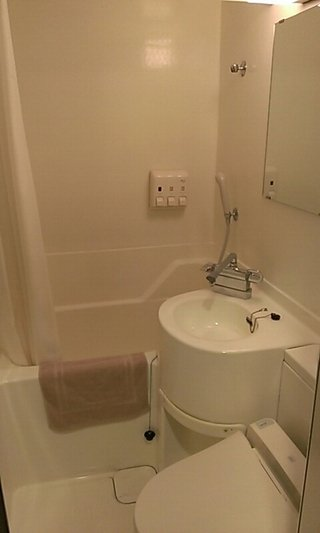 部屋のバスルームです