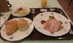 朝食の洋食です