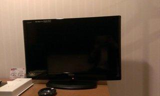 大画面のテレビです