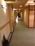 露天風呂までの廊下
