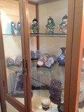 ロビー展示人形や鉱石