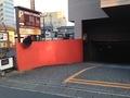地下駐車場への入口