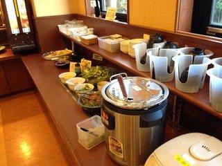 朝食お味噌汁ご飯コーナー