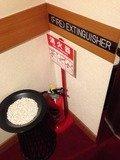 エレベーター前の消化器