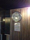 檜の露天風呂時計