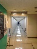 地下駐車場フロア廊下