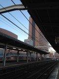 浜松駅のホームから見たホテル