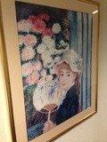 廊下の人物画