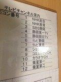ブラウン管テレビのチャンネル表