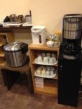 朝食バイキングご飯お茶コーヒーコーナー